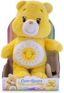 Peluche de Oso Amoroso amarillo de 40 cm - Los mejores peluches de los Osos amorosos - Care Bears - Peluches de personajes de los osos amorosos