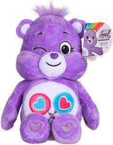 Peluche de Oso Amoroso morado de 23 cm - Los mejores peluches de los Osos amorosos - Care Bears - Peluches de personajes de los osos amorosos
