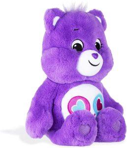 Peluche de Oso Amoroso morado de 33 cm - Los mejores peluches de los Osos amorosos - Care Bears - Peluches de personajes de los osos amorosos