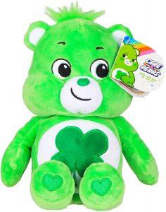 Peluche de Oso Amoroso verde de 23 cm - Los mejores peluches de los Osos amorosos - Care Bears - Peluches de personajes de los osos amorosos