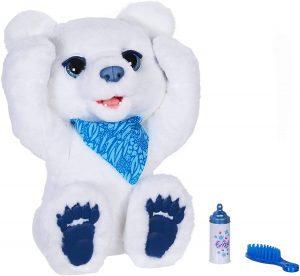 Peluche de Oso Polar Plum de 40 cm - Los mejores peluches de Furreal Friends - Peluches de animales de Furreal Friends - El oso curioso