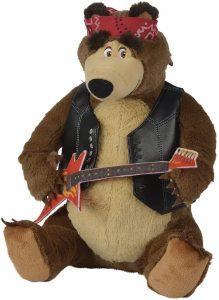 Peluche de Oso rockero de Simba de 30 cm - Los mejores peluches de Masha y el oso - Peluches de Masha y el Oso