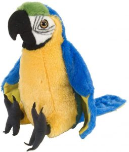 Peluche de Papagayo de Wild Republic de 30 cm - Los mejores peluches de loros y guacamayos - Peluches de animales