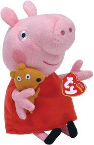 Peluche de Peppa Pig de 16 cm de Ty - Los mejores peluches de Peppa Pig - Peluches de Peppa Pig