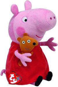 Peluche de Peppa Pig de 25 cm de Ty - Los mejores peluches de Peppa Pig - Peluches de Peppa Pig