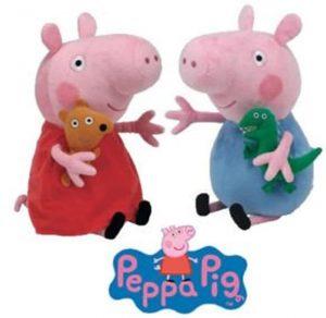 Peluche de Peppa Pig y George Pig de 16 cm de Ty - Los mejores peluches de Peppa Pig - Peluches de Peppa Pig