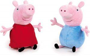 Peluche de Peppa Pig y George Pig de 20 cm - Los mejores peluches de Peppa Pig - Peluches de Peppa Pig