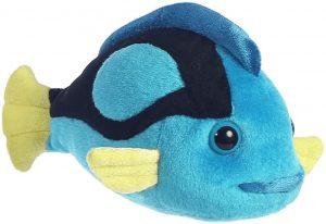 Peluche de Pez azul de 19 cm de Aurora - Los mejores peluches de peces - Peluches de animales
