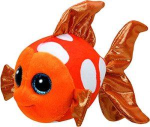 Peluche de Pez naranja de 15 cm de Ty - Los mejores peluches de peces - Peluches de animales
