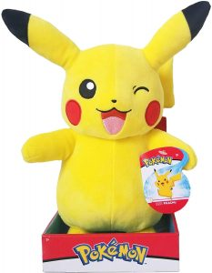 Peluche de Pikachu de 30 cm guiño - Los mejores peluches de Pikachu de Pokemon - Peluches de Pokemon