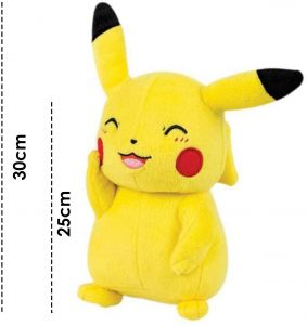 Peluche de Pikachu de 30 cm risa - Los mejores peluches de Pikachu de Pokemon - Peluches de Pokemon