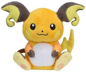 Peluche de Raichu de 14 cm - Los mejores peluches de Pikachu de Pokemon - Peluches de Pokemon