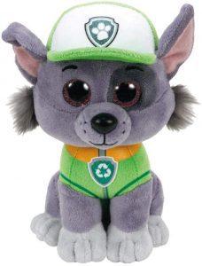 Peluche de Rocky de la Patrulla Canina de 15 cm de Ty - Los mejores peluches de la Patrulla Canina - Peluches de la Patrulla Canina