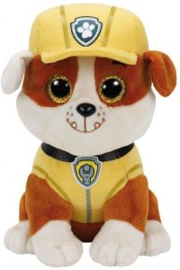 Peluche de Rubble de la Patrulla Canina de 15 cm de Ty - Los mejores peluches de la Patrulla Canina - Peluches de la Patrulla Canina