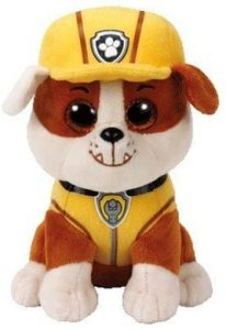 Peluche de Rubble de la Patrulla Canina de 24 cm de Ty 2 - Los mejores peluches de la Patrulla Canina - Peluches de la Patrulla Canina