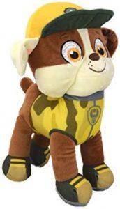Peluche de Rubble de la Patrulla Canina de 28 cm - Los mejores peluches de la Patrulla Canina - Peluches de la Patrulla Canina