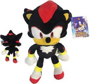 Peluche de Shadow The Hedgehog de 30 cm de SEGA - Los mejores peluches de Sonic - Peluches de personajes del erizo Sonic