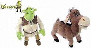 Peluche de Shrek y Asno de 23 cm - Los mejores peluches de Shrek - Peluches de películas