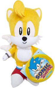 Peluche de Tails de 17 cm de SEGA - Los mejores peluches de Sonic - Peluches de personajes del erizo Sonic
