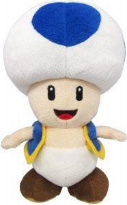 Peluche de Toad de 20 cm de Mario Bros de Nintendo azul - Los mejores peluches de Toad - Peluches de personaje