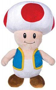 Peluche de Toad de 30 cm de Mario Bros de Nintendo - Los mejores peluches de Toad - Peluches de personaje
