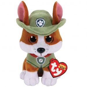 Peluche de Tracker de la Patrulla Canina de 15 cm de Ty - Los mejores peluches de la Patrulla Canina - Peluches de la Patrulla Canina