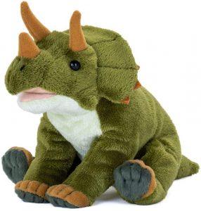 Peluche de Triceratops de Karorata de 23 cm - Los mejores peluches de Triceratops - Peluches de dinosaurios