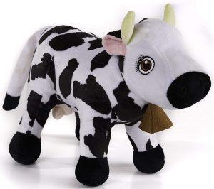 Peluche de Vaca Lola de la Granja de Zenón de 30 cm - Los mejores peluches de la granja de Zenón - Peluches de series de dibujos animados