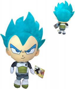 Peluche de Vegeta Super Saiyan Dios de Dragon Ball Z de 30 cm - Los mejores peluches de Dragon Ball Z - Peluches de Dragon Ball Z