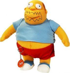 Peluche de Vendedor de comics de los Simpsons de 30 cm - Los mejores peluches de los Simpsons - Peluches de series de dibujos animados