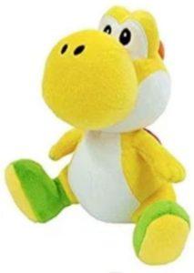 Peluche de Yoshi amarillo de 30 cm de Mario Bros de Nintendo - Los mejores peluches de Yoshi - Peluches de personajes del dinosaurio Yoshi