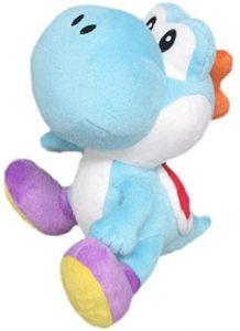 Peluche de Yoshi azul de 20 cm de Mario Bros de Nintendo - Los mejores peluches de Yoshi - Peluches de personajes del dinosaurio Yoshi