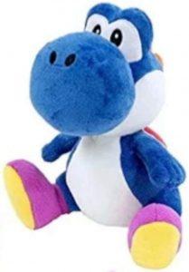 Peluche de Yoshi azul de 45 cm de Mario Bros de Nintendo - Los mejores peluches de Yoshi - Peluches de personajes del dinosaurio Yoshi