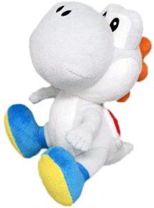 Peluche de Yoshi blanco de 17 cm de Mario Bros de Nintendo - Los mejores peluches de Yoshi - Peluches de personajes del dinosaurio Yoshi
