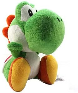 Peluche de Yoshi de 25 cm de Mario Bros de Nintendo - Los mejores peluches de Yoshi - Peluches de personajes del dinosaurio Yoshi
