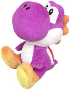 Peluche de Yoshi morado de 17 cm de Mario Bros de Nintendo - Los mejores peluches de Yoshi - Peluches de personajes del dinosaurio Yoshi
