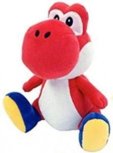 Peluche de Yoshi rojo de 30 cm de Mario Bros de Nintendo - Los mejores peluches de Yoshi - Peluches de personajes del dinosaurio Yoshi