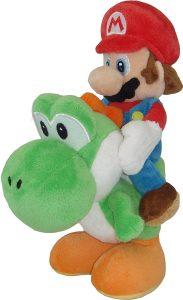 Peluche de Yoshi y Mario de 22 cm de Mario Bros de Nintendo - Los mejores peluches de Yoshi - Peluches de personajes del dinosaurio Yoshi