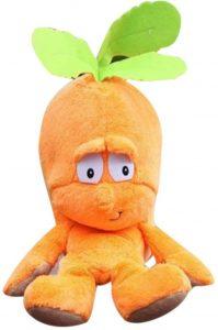 Peluche de Zanahoria de 25 cm - Los mejores peluches de zanahorias - Peluches de frutas y verduras