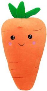 Peluche de Zanahoria de 50 cm - Los mejores peluches de zanahorias - Peluches de frutas y verduras
