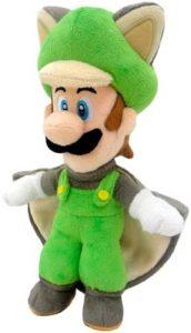 Peluche de ardilla voladora de Luigi de 38 cm de Mario Bros de Nintendo - Los mejores peluches de Luigi - Peluches de personaje de Luigi