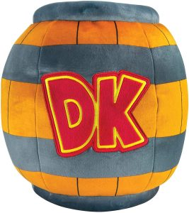 Peluche de barril de Donkey Kong de 40 cm de Mario Bros - Los mejores peluches de Donkey Kong - Peluches de personajes del gorila Donkey Kong