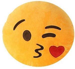 Peluche de emoticono de beso de 30 cm - Los mejores peluches de emojis - emoticonos - Peluches de emojis