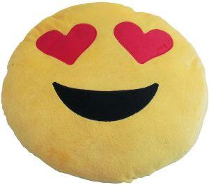 Peluche de emoticono de corazones de 34 cm - Los mejores peluches de emojis - emoticonos - Peluches de emojis