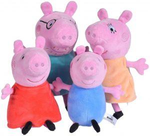 Peluche de familia de Peppa Pig de 20 cm - Los mejores peluches de Peppa Pig - Peluches de Peppa Pig