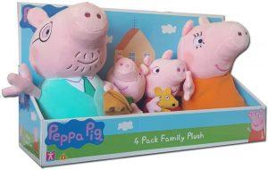 Peluche de familia de Peppa Pig de 25 cm - Los mejores peluches de Peppa Pig - Peluches de Peppa Pig