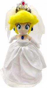 Peluche de la novia Peach de 33 cm de Nintendo - Los mejores peluches de Peach de Super Mario - Peluches de personaje de Mario