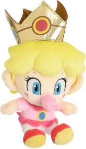 Peluche de la princesa Peach bebé de 17 cm de Nintendo - Los mejores peluches de Peach de Super Mario - Peluches de personaje de Mario