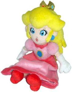 Peluche de la princesa Peach de 22 cm de Nintendo - Los mejores peluches de Peach de Super Mario - Peluches de personaje de Mario