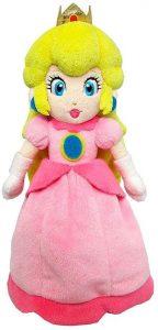 Peluche de la princesa Peach de 27 cm de Nintendo - Los mejores peluches de Peach de Super Mario - Peluches de personaje de Mario